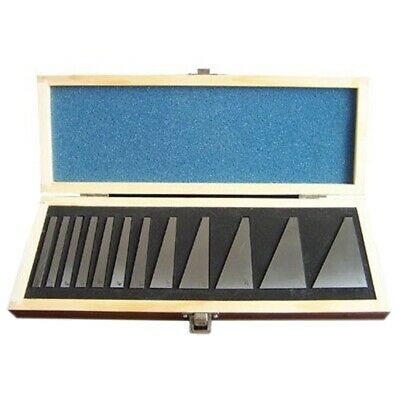 2X(12 Piece Steel Angle Gauge Block Set With Case Precisions Angle Blocks H9A8)