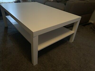 White Coffee Table Ikea Lack Large 500 Picclick Uk