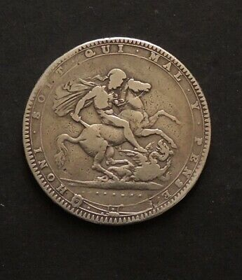 English 1820 Crown Silver Coin.Free Registered Post.