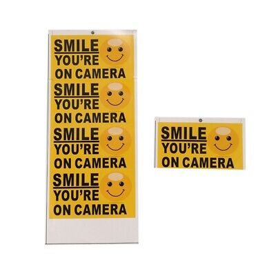 "5x ""Smile You're On Camera"" Self-adhesive Video Alarm Safety Warning Sticke T5K1"
