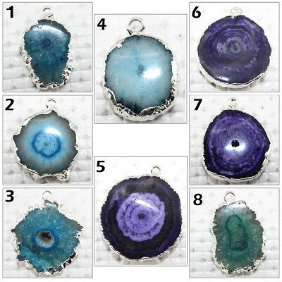 Best Colorful Natural Solar Quartz Flowers Silver Plated Connector DIY Jewelry