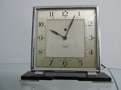 Art Deco Chrome Smiths Electric Mantel Clock 1930s Working