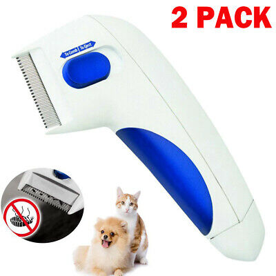 2 Flea Doctor Electric Dog Comb Brush Cat Pets Head Lice Remover Anti Control FD