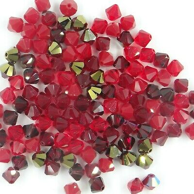 T6 MIX S ** Lot de 50 toupies cristal Swarovski 6 mm MIX camaïeu couleurs