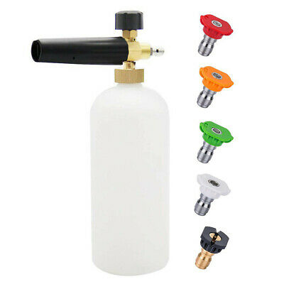 Pressure Washer Star Foam Cannon Snow Foam Lance With 5Pcs Spray Nozzle Tips CA