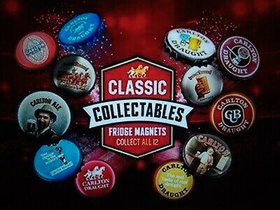 Carlton Draught Classic Collectable Fridge Magnets