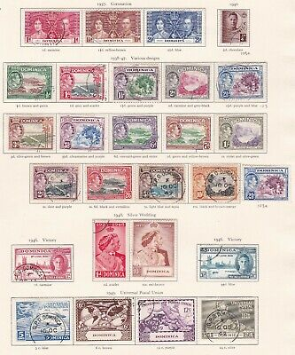 British Commonwealth. Dominica  George VI 1937-49 issues. Used.