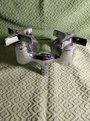Vintage Hot And Cold Bathtub Faucet Made Of Chrome And Brass And Copper, Central