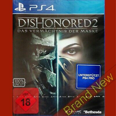 DISHONORED 2 - PlayStation 4 PS4 ~18+ German Cover Game in English - Brand New