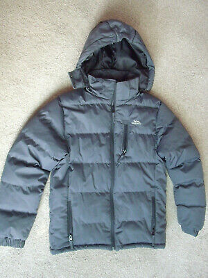 Childs Trespass coldheat waterproof windproof hooded puffer jacket age 11-12