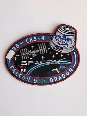 SpaceX Employee Numbered Patch:  CRS-4 with employee serial number Falcon 9 NASA