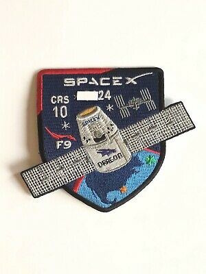 SpaceX Employee Numbered Patch:  CRS-10 with employee serial number NASA