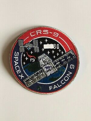 SpaceX Employee Numbered Patch:  CRS-9 with employee serial number Falcon 9 NASA