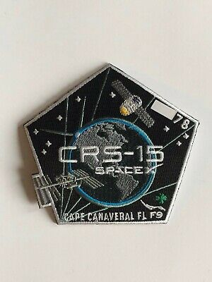 SpaceX Employee Numbered Patch:  CRS-15 with employee serial number, Falcon 9