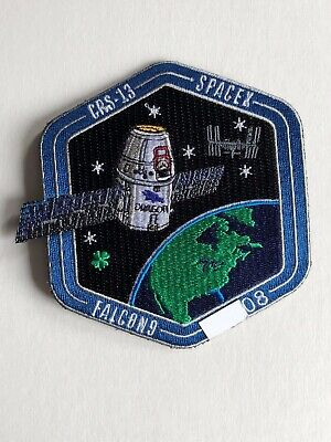 SpaceX Employee Numbered Patch:  CRS-13 with employee serial number Falcon 9