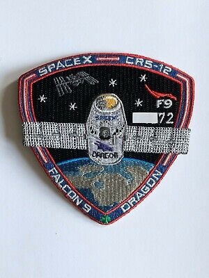 SpaceX Employee Numbered Patch: CRS-12 with employee serial number Falcon 9 NASA