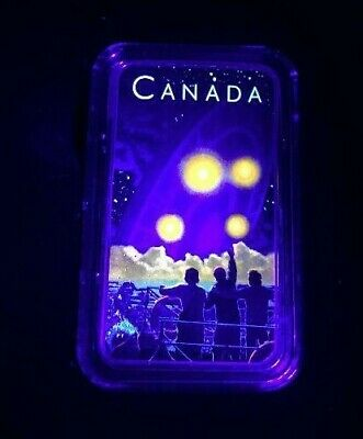 2019 Shag Harbour 2nd Glow-in-the-Dark 1oz Pure .9999 Silver Coin Canada