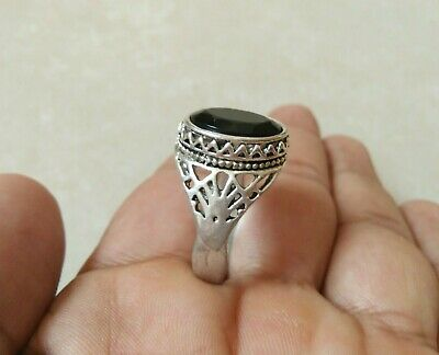 Rare Extremely Ancient Ring Legionary Roman Ring Metal Color Silver with Stone
