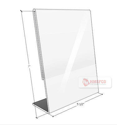 "Acrylic Marketing Sign Holder Display Stand 5.5"" X7""(h) - 3 PCS (629CL)"