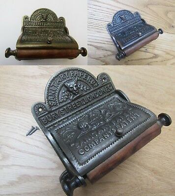 Vintage Antique Rustic old Period bathroom Wc Washroom Toilet Roll Holder Ornate