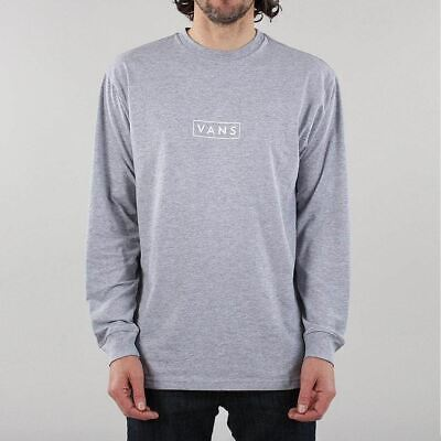 VANS MEN'S NEW Easy Box Long Sleeve Regular Fit Cotton T