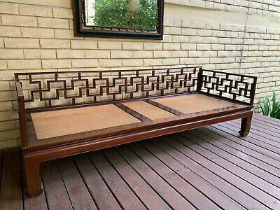Antique Chinese Sofa Bed with cushion and pillows