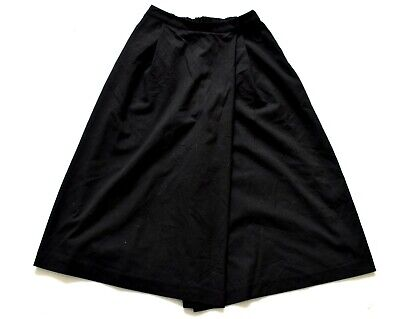 Women's Ladies Vintage Black Culotte Shorts Retro 8