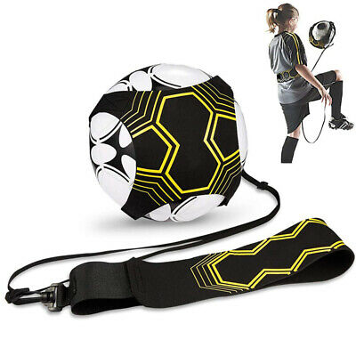 Child Kids Football Self Training Kick Practice Trainer Adjustable Waist Belt UK