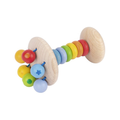 Heimess TOUCH RING RATTLE RAINBOW LENSES Baby Wooden Toy BN