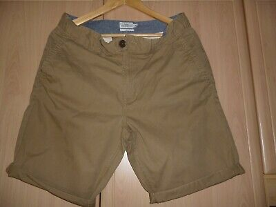 New Men M/&S Pure Cotton Stone Adjustable Waist Chino Shorts Size 32-44