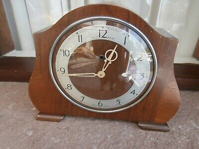 Vintage Temco Electric Clock Wooden. Made In England By The Telephone Mfg Co.ltd