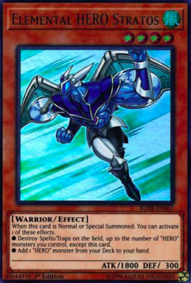 Elemental HERO Stratos - BLHR-EN061 - Ultra Rare 1st Edition