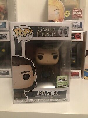 Funko Pop Arya Stark Game of Thrones ECCC 2019 Exclusive With Protector