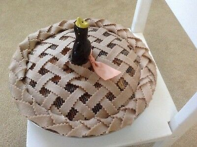 Prim Pie & Pie Bird Ceramic Blackbird Pie Bird Baked in Potpourri Pie Free Ship