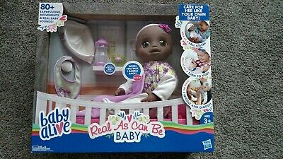baby alive real as can be  80+ expressions, movements& real baby sounds