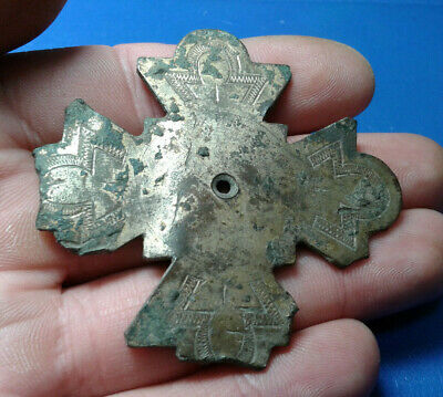 Ancient Byzantine Bronze Cross