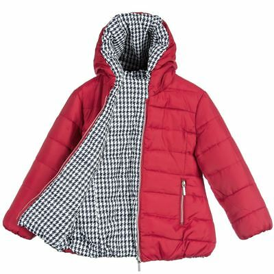 Mayoral Girls Red & Houndstooth Reversible Jacket 3 Years