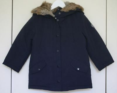Bonpoint Girls Navy Blue Flake Parka Jacket 4 Years