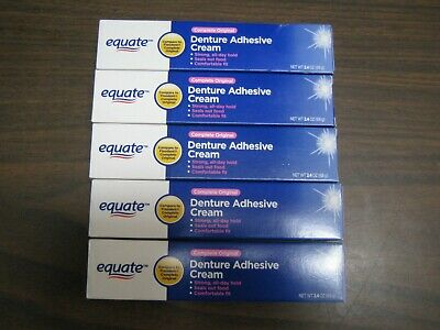 Compare to Fixadent Equate Denture Adhesive Cream Lot Of 5
