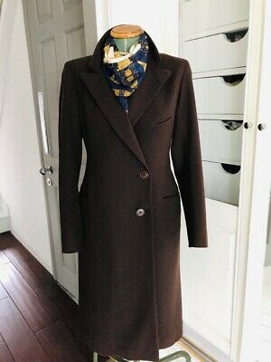 Vintage 1940s Coat, Brown Tailored 10, Winter, Lined