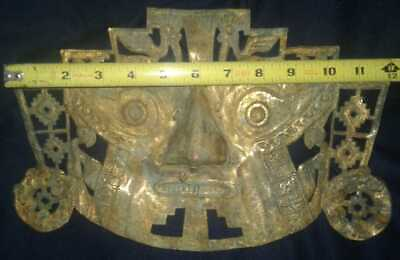 Moche, chimu  An ancient Mask gold Tumbaga ,Precolumbian,Mochica,chavin