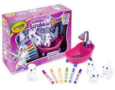 🚛 Fast Shipping! {NEW} Crayola Scribble Scrubbie Peculiar Pets 4 Pets Included!