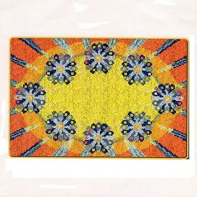 FLORAL RADIANCE LATCH HOOK RUG KIT from UK Seller, NEW, LARGE