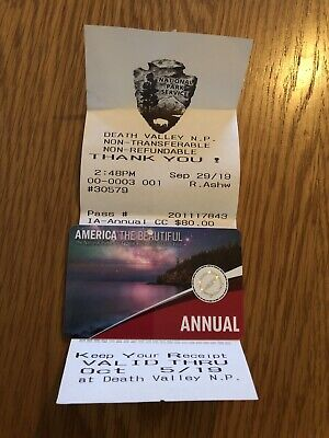 USA National Park Annual Pass, America The Beautiful, valid to end Sept 2020