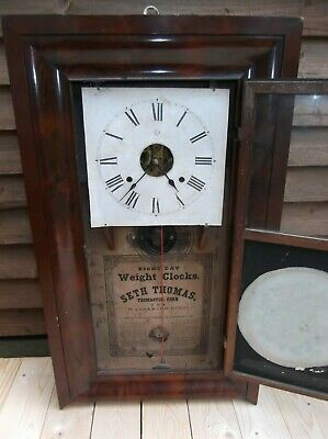 Antique American Seth Thomas ogee Wall Clock-spares/repairs.