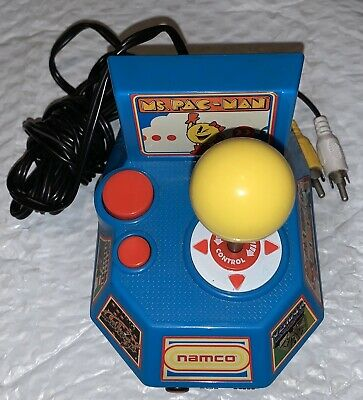 Ms Pac-man 5 in 1 Plug and Play handheld TV video game Namco Tested and Working