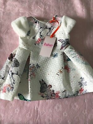 Ted Baker Baby Girl 0-3 Months Dress Floral Brand New Pegasus Unicorn 🦄
