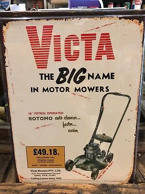 Victa Lawnmower Retro Metal Sign