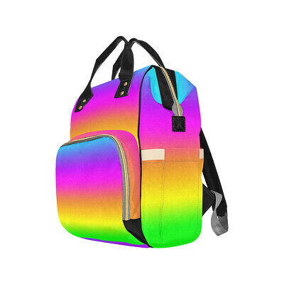 Rainbow Ombre Baby Changing Diaper Backpack Rucksack Bag Alternative Colourful
