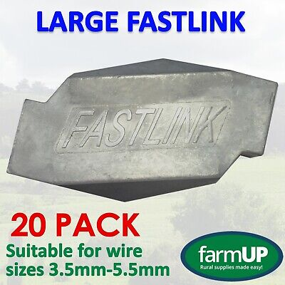 20 X FASTLINK LARGE FENCE FENCING WIRE JOINERS - Works with gripple